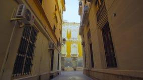 Valencia Spain Small Street Corridor. stock video footage
