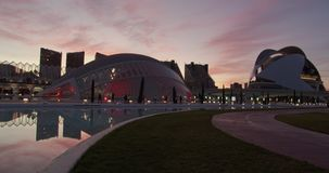 Valencia Spain. Time-lapse. City of arts and sciences.