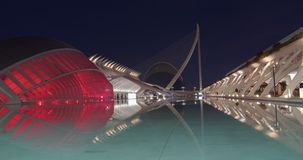 Valencia Spain. Timelapse. City of arts and sciences.