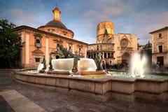 Valencia Spain Virgin Square lizenzfreie stockbilder