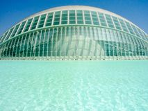 Valencia, Spanien - August 2009: Künste und Wissenschafts-Museum durch Calatrava Lizenzfreie Stockfotografie