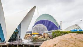 Valencia Spanien - December 04, 2016: Överblick av oceanografiskt Fotografering för Bildbyråer