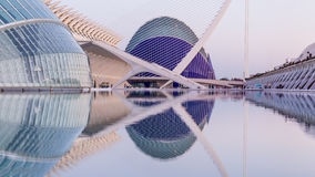 Valencia Spanien - December 02, 2016: Hemisferic och vetenskapsmuseum Arkivfoto