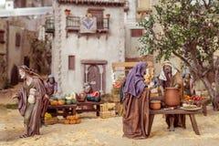 Valencia Spanien - December 02, 2016: Julkrubba Royaltyfria Foton