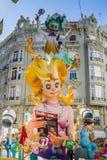 Valencia Spanien, den Fallas festivalen Arkivfoton