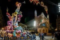 Valencia Spanien, den Fallas festivalen Royaltyfri Fotografi