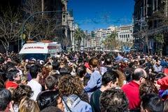 Valencia Spanien, den Fallas festivalen Fotografering för Bildbyråer