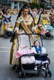 Valencia Spanien, den Fallas festivalen Royaltyfria Bilder