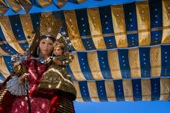 Valencia Spanien, den Fallas festivalen Arkivbilder