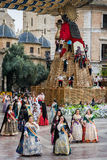 Valencia Spanien, den Fallas festivalen Royaltyfri Foto