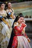 Valencia Spanien, den Fallas festivalen Arkivfoto