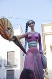 Die Störungen in Valencia, Spanien 2013 Stockbild