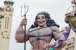 Valencia, Spanien, am 18. März 2019 Fallas-Festival von Valencia Papermache-Skulpturen werden konstruiert und gebrannt dann lizenzfreie stockfotografie