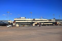 VALENCIA SPANIEN - NOVEMBER 26, 2018: Valencia Airport i Spanien, Europa royaltyfri foto