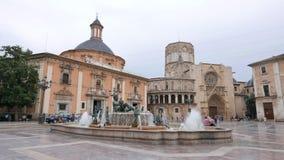Valencia Spanien Plaza Arkivfoto