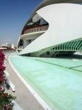 Valencia, Spanje - Augustus 2009: Kunsten en Wetenschapsmuseum door Calatrava Royalty-vrije Stock Foto