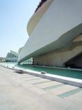 Valencia, Spanje - Augustus 2009: Kunsten en Wetenschapsmuseum door Calatrava Royalty-vrije Stock Fotografie