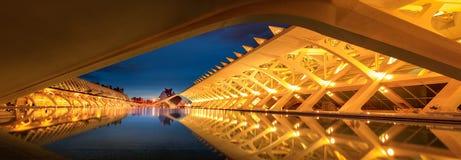 Valencia stad av konster och vetenskaper arkivfoton