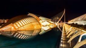 Valencia stad av konster och vetenskaper royaltyfria bilder