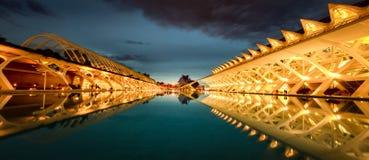 Valencia stad av konster och vetenskaper arkivbilder