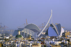 Valencia stad av konster och vetenskaper royaltyfri foto