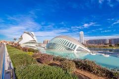 Valencia - Stadt von Künsten und von Wissenschaften Stockfotografie