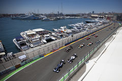 Valencia Street Circuit 2012 Stock Images