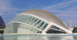 Valencia sun light day time hemesferic city of art 4k spain. Valencia sun light day time hemesferic city of art 4k stock video
