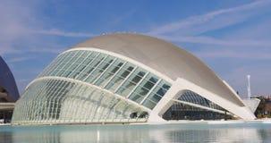 Valencia sun light day time hemesferic city of art 4k spain stock video
