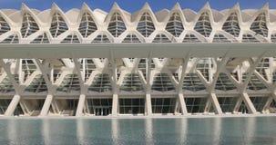 Valencia sun light museum of science exterior architecture 4k spain stock video