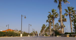 Valencia sun light walking mediterranean bay 4k spain. Spain valencia city sun light walking mediterranean bay 4k stock video footage