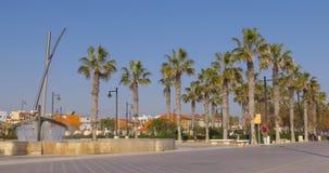 Valencia sun light winter beach bay 4k spain. Spain valencia city sun light winter beach bay 4k stock footage