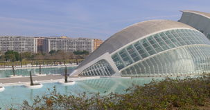 Valencia sunny day light science museum city of art 4k spain stock video