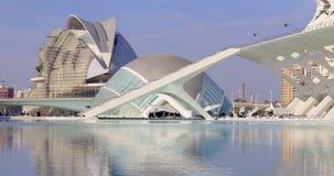 Valencia sunny day light science museum city of art panorama 4k spain stock video