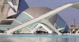 Valencia-Tagessonnenlicht-Wissenschaftsmuseumsstadt der Kunst 4k Spanien stock video