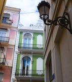 Valencia Tapineria street near Plaza de la Reina Royalty Free Stock Images