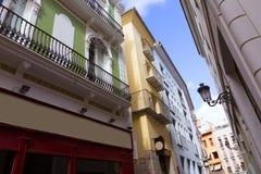Valencia Tapineria street near Plaza de la Reina Stock Photography