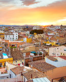 Valencia top view, Spain Royalty Free Stock Images