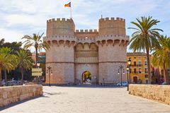 Valencia Torres de Serranos Tower Foto de archivo libre de regalías