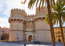 Valencia Torres de Serranos Tower Fotografía de archivo libre de regalías