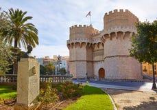 Valencia Torres de Serranos Tower Imagen de archivo