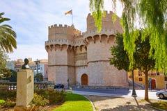 Valencia Torres de Serranos Tower Fotos de archivo
