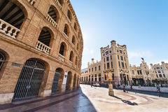 Valencia Train Station and Bull fighting arena Stock Photos