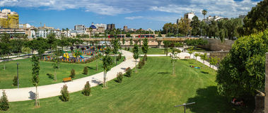 Valencia, Turia gardens Stock Photo