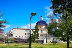 Valencia Turia river park with San Pio V museum Royalty Free Stock Photo