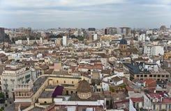 Valencia von oben. Lizenzfreies Stockfoto