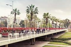 Valencian bridge. Bridge of Flowers on the Turia river in Valencia Royalty Free Stock Photos