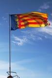 Valencian Flagge Stockfoto