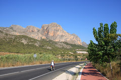 Valencian landscape with mountain road Stock Image