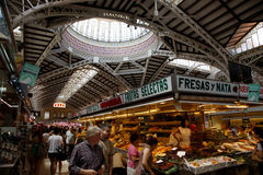 Valencian market. Inside the market in Valencia Stock Photos